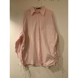 ZARA - ZARA オーバーサイズシャツ ピンク