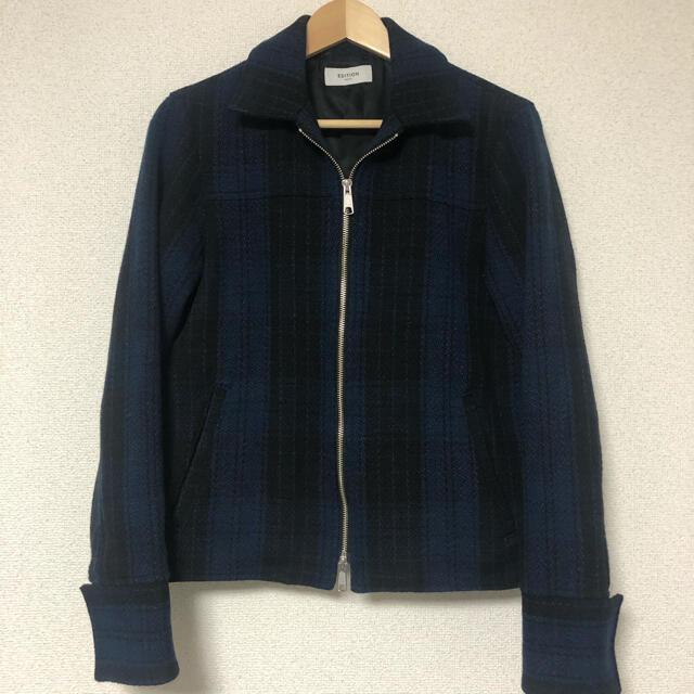 Edition(エディション)のEDITION ウールナイロンチェックブルゾン メンズのジャケット/アウター(ブルゾン)の商品写真