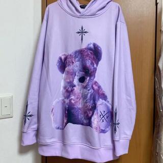 FUGA - TRAVAS TOKYO パープルくま 紫くま パーカー