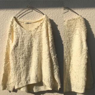 mysty woman - レディース セーター ホワイト モコモコ