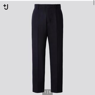 UNIQLO - 《新品・裾上げ無し》ユニクロ+J ウールブレンドイージーパンツ ブラック M 黒