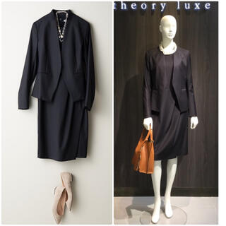 Theory luxe - theory luxe EXECUTIVE ワンピーススーツ セットアップ 紺