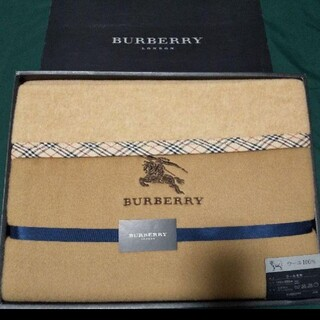 バーバリー(BURBERRY)の希少  BURBERRY バーバリー ウール毛布 100% 西川産業(毛布)