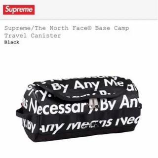 シュプリーム(Supreme)のsupreme the north face シュプリーム  ポーチ 黒 総柄(ショルダーバッグ)