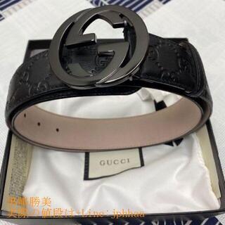 COACH - グッチ 大人気 ダブルGバックル レザー ベルト 3.8 cm幅