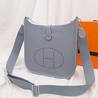 Hermes - 亜麻の花のような(ブルーラン)エブリン/PM/レディース愛用ショルダーバッグ