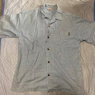 クイックシルバー(QUIKSILVER)のQUE SPORTS オープンカラーシャツ チェック柄 L(シャツ)
