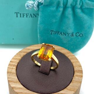Tiffany & Co. - 希少 ヴィンテージ ティファニー ビッグ シトリン ゴールド リング LL52