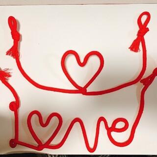 運命の赤い糸 LOVEハート二点セット