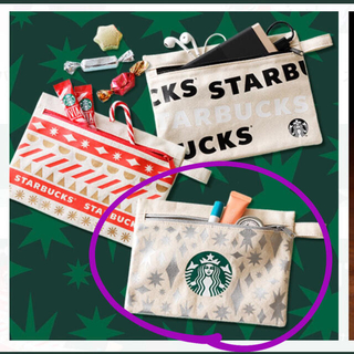 スターバックスコーヒー(Starbucks Coffee)の未開封★スタバ ポーチ シルバー(ポーチ)