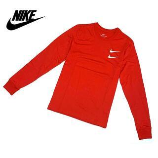 NIKE - 新品 Mサイズ ナイキ 長袖 Tシャツ スウッシュ カットソー レッド L/S