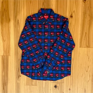 Supreme - Supreme Rose Buffalo Plaid Shirt Royal M