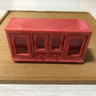 EPOCH - リビングサイドボード 赤い家具 シルバニア ミニチュア 赤い棚