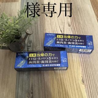 サンスター(SUNSTAR)の当帰の力で 生薬 歯磨き粉 2セット(口臭防止/エチケット用品)