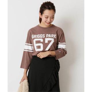 スピックアンドスパン(Spick and Span)のCHAMPION 3/4 SLEEVE FOTball T-Shart(Tシャツ/カットソー(七分/長袖))