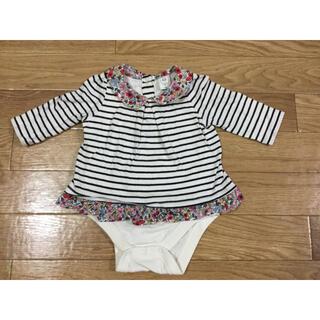 babyGAP - ベビーギャップ GAP ロンパース ボーダー ロンT 花柄