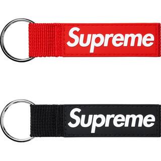 Supreme - supreme Webbing Keychain 赤 黒 セット