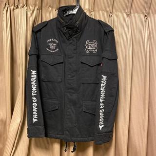 Supreme - 本物シュプリーム×ネイバーフッドM65コラボ黒色SUPREMEジャケット正規品S