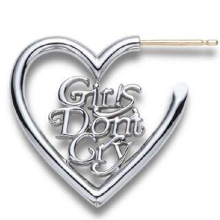 Supreme - 定価以下 GIRLS DON'T CRY コラボハートピアス シルバー