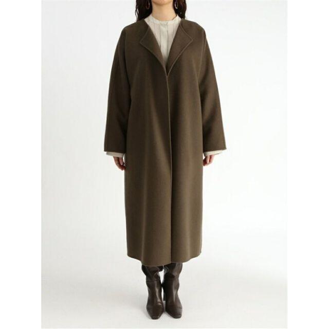 Mila Owen(ミラオーウェン)のラス1 接結ガウンロングコート カーキ 0 レディースのジャケット/アウター(ガウンコート)の商品写真