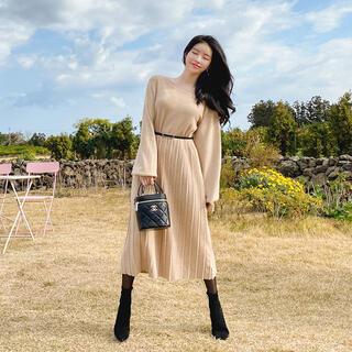 JUSGLITTY - attrangs アットランス ニットワンピ 韓国ファッション プリーツ