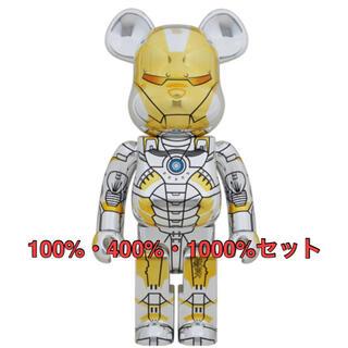 メディコムトイ(MEDICOM TOY)のBE@RBRICK SORAYAMA IRONMAN 100%400%1000%(キャラクターグッズ)