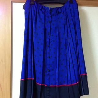 ルシェルブルー(LE CIEL BLEU)のルシェルブルー ドットプリーツスカート(ひざ丈スカート)
