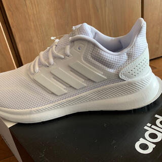 adidas - アディダス スニーカー 白ホワイト 24.5  FARCONRUNW