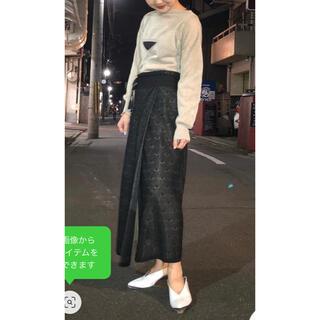 sacai - TAN タン ドット 巻き スカート