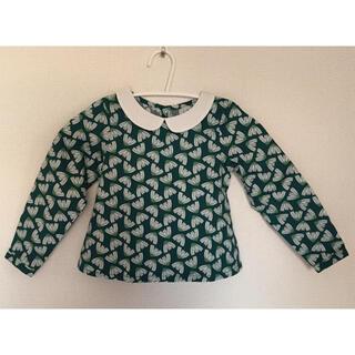 Bonpoint - 【新品】 完売品 okaidi オカイディ 襟付き ブラウス 98cm お正月服