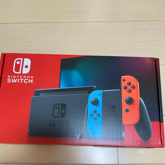 Nintendo Switch(ニンテンドースイッチ)の新品未開封 Switch 任天堂スイッチ 本体 ネオンブルー ニンテンドウ エンタメ/ホビーのゲームソフト/ゲーム機本体(携帯用ゲーム機本体)の商品写真