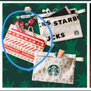 スターバックスコーヒー(Starbucks Coffee)の未開封★スタバ ポーチ 赤(ポーチ)