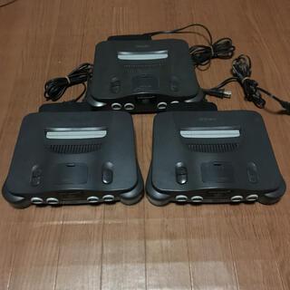 ニンテンドウ64(NINTENDO 64)のニンテンドー64 本体 アダプター セット(家庭用ゲーム機本体)