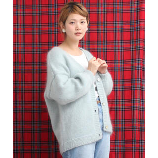 ドットアンドストライプスチャイルドウーマン(Dot&Stripes CHILDWOMAN)のDot&Stripes CHILD WOMAN モヘヤざっくり手編みカーディガン(カーディガン)
