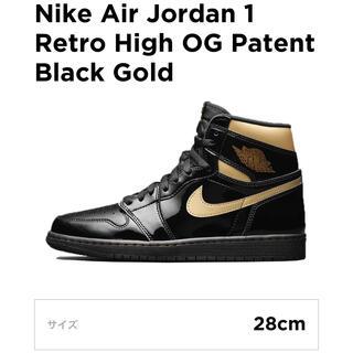 NIKE - JORDAN 1 BLACK METALLIC GOLD ナイキ ジョーダン