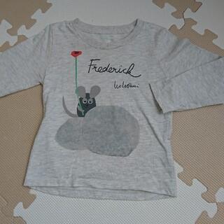 Design Tshirts Store graniph - 100  グラニフ  フレデリック  長袖カットソー  ライトグレー
