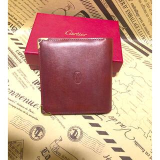 カルティエ(Cartier)のカルティエ 二つ折り マストライン ボルドー(折り財布)