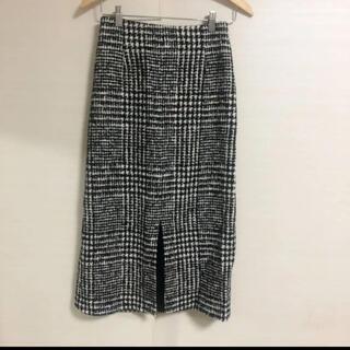 トゥモローランド(TOMORROWLAND)の新品同様美品 TOMORROWLAND  Ballseyチェック ロングスカート(ロングスカート)