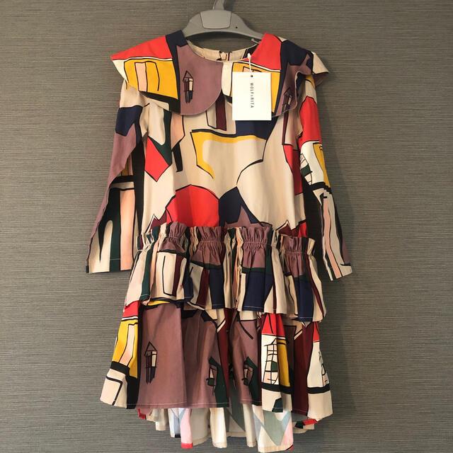 Bonpoint(ボンポワン)の新品未使用WOLF&RITAワンピース110 キッズ/ベビー/マタニティのキッズ服女の子用(90cm~)(ワンピース)の商品写真