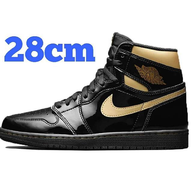 NIKE(ナイキ)のNIKE AIR JORDAN1 OG BLACK-METALIC GOLD メンズの靴/シューズ(スニーカー)の商品写真