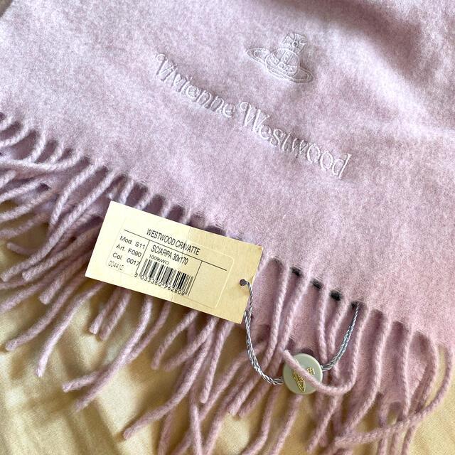 Vivienne Westwood(ヴィヴィアンウエストウッド)のVivienne Westwood マフラー ラベンダー色𓇼 レディースのファッション小物(マフラー/ショール)の商品写真