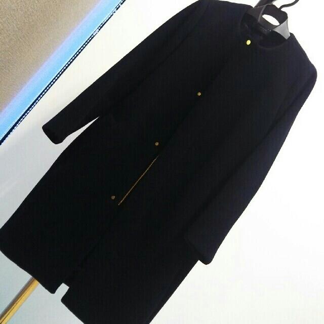 TOMORROWLAND(トゥモローランド)の✴MACPHEE✴ウールメルトン クルーネックジップアップコート レディースのジャケット/アウター(ロングコート)の商品写真