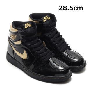 28.5cm Jordan 1 High BLACK METALLIC GOLD(スニーカー)