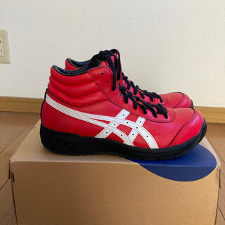 アシックス(asics)のアシックス安全靴(RED&WHITE)27.0(スニーカー)