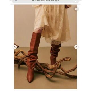 ラグナムーン(LagunaMoon)のラグナムーン ロングブーツ ブラウン 定価17800(ブーツ)