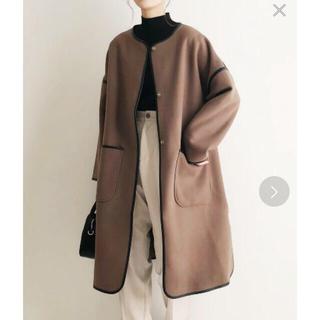 アズールエンカント☆新品☆パイピングノーカラーコート