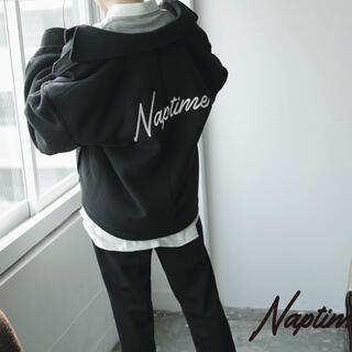 AAA - naptime 袖ボアジャケット ブラック