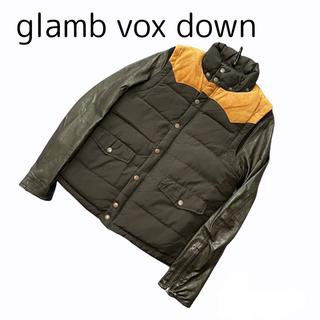 グラム(glamb)のサイズ1 グラム glamb 2wayレザーヨークダウンジャケット 黒 vox(ダウンジャケット)