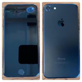 iPhone - iphone7 128GB ブラック SIMフリー 箱付き 除菌済