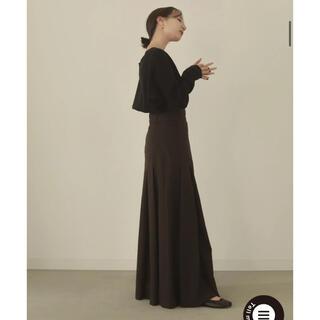 ZARA - lourenローレンpleatsflare long skirtロングスカートS